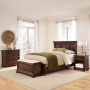 Roanoke Bed, Nightstand, Chest and Bench