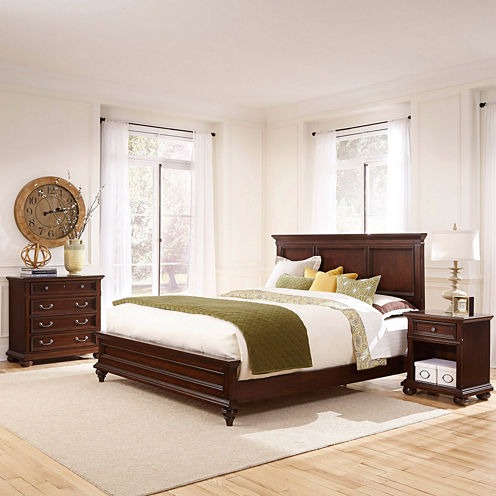Roanoke Bed, Nightstand and Chest
