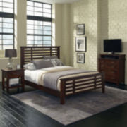 Mountain Lodge Bed, Nightstand and Media Chest