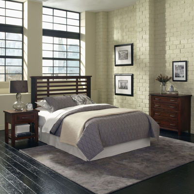 Mountain Lodge Metal Post Headboard, Nightstand and Chest