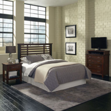 jcpenney.com | Mountain Lodge Metal Post Headboard, Nightstand and Media Chest
