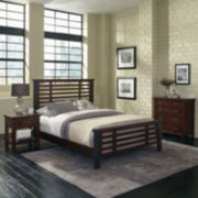 Mountain Lodge Metal Post Bed, Nightstand and Chest