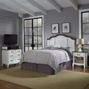 Beaumont Headboard, Nightstand and Media Chest Set