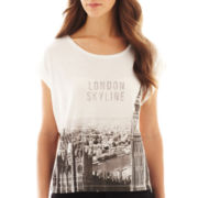 MNG by Mango® Short-Sleeve London Skyline Cropped Tee