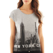 MNG by Mango® Short-Sleeve New York City Cropped Tee