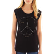 MNG by Mango® Peace Sign Tee