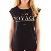 MNG by Mango® Sleeveless Bon Voyage Graphic Tee