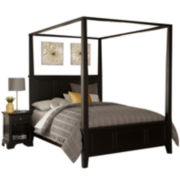 Rockbridge Canopy Bed and Nightstand