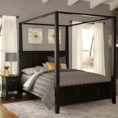 Rockbridge Canopy Bed and Nightstand