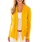 jcp™ Long-Sleeve Flyaway Cardigan Sweater