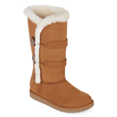 jcpenney.com | Arizona Button Faux-Fur Boots