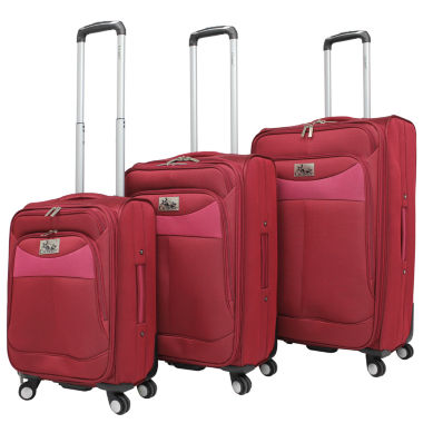 jcpenney.com | Chariot Travelware Amore 3-pc. Luggage Set