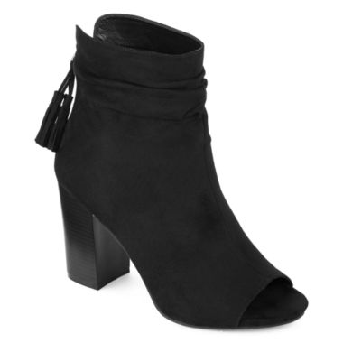 jcpenney.com | a.n.a® Rose Peep-Toe Booties