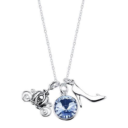 Disney Silver Over Brass Pendant Necklace