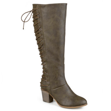 jcpenney.com | Journee Collection Amara Lace-Back Riding Boots - Wide Calf