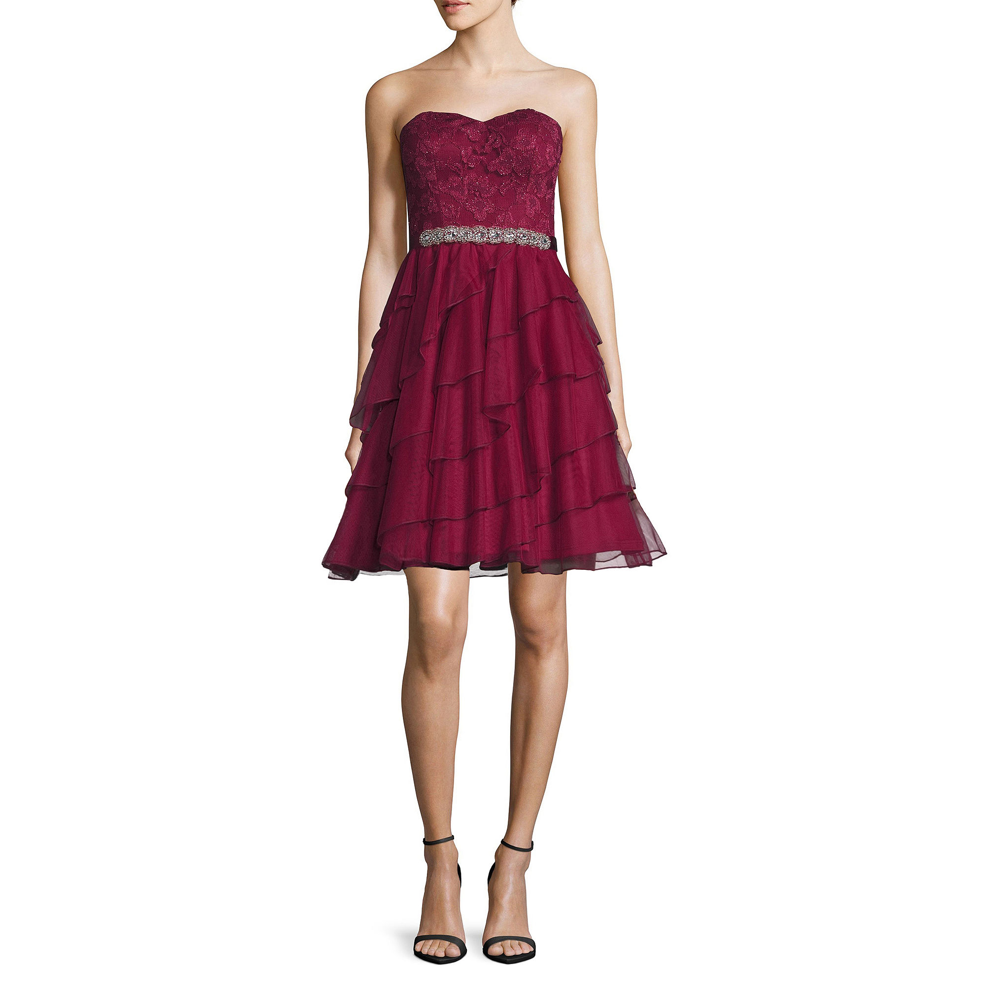 Love Reigns Strapless Tiered-Skirt Party Dress - Juniors plus size,  plus size fashion plus size appare