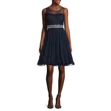 jcpenney.com | My Michelle® Sleeveless Illusion-Waist Party Dress - Juniors