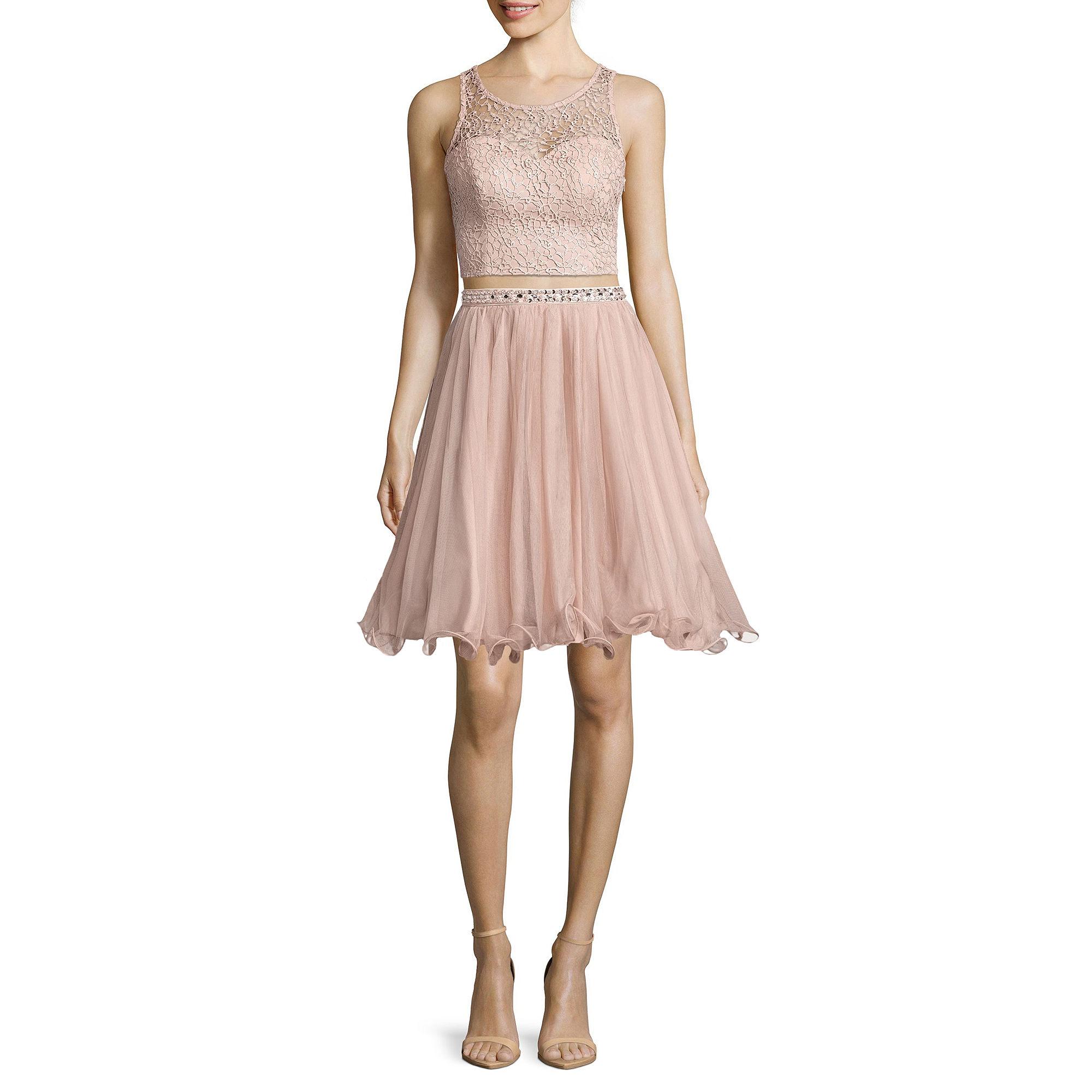 My Michelle 2-pc. Sleeveless Lace Top & Skirt Set - Juniors plus size,  plus size fashion plus size appare
