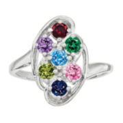 Multi Color Cubic Zirconia 14K Gold Cocktail Ring