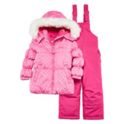 WeatherProof Heart Dot Fuchsia 2-pc. Snowsuit Set - Toddler Girls 2t-5t