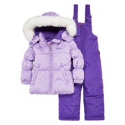 WeatherProof Heart Dot Lavender 2-pc. Snowsuit Set - Toddler Girls 2t-5t