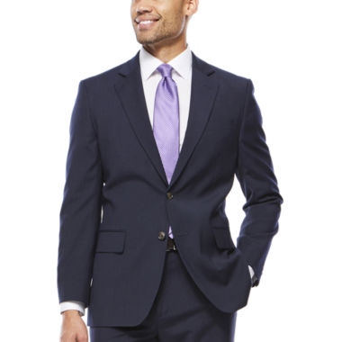 jcpenney.com | Stafford® Travel Stretch Navy Pinstripe Jacket - Classic Fit