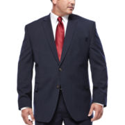 Stafford® Travel Stretch Navy Pinstripe Jacket - Big & Tall