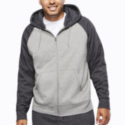 The Foundry Supply Co.™ Long-Sleeve Full-Zip Raglan Hoodie - Big & Tall