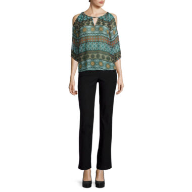 jcpenney.com | by&by Long-Sleeve Cold-Shoulder Keyhole Peasant Top or Pull-On Pants