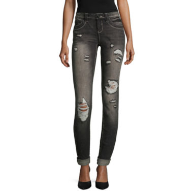 jcpenney.com | Almost Famous Destructed Skinny Jeans