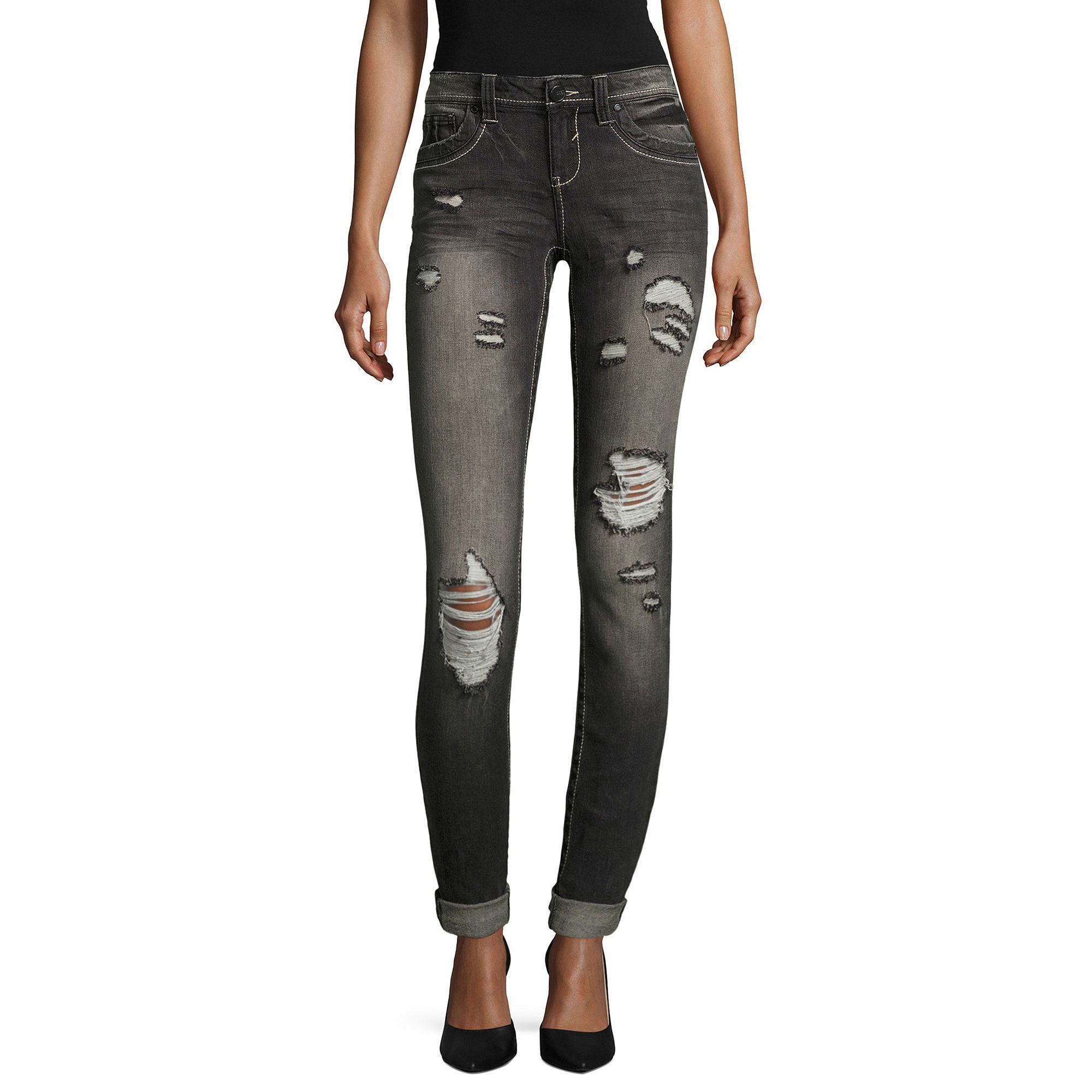 Almost Famous Destructed Skinny Jeans
