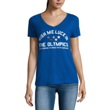 jcpenney.com | Short-Sleeve V-Neck Graphic Tee