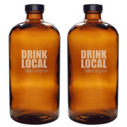 Set of 2 Personalized Drink Local 16-oz. Bullet Growletts