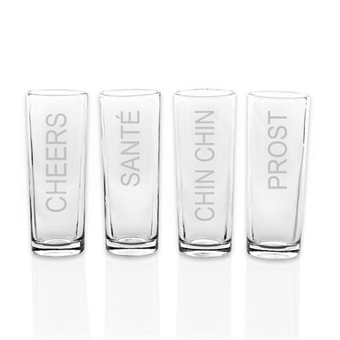 Cathy's Concepts Cheers 4-pc. Shot Glass