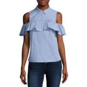 BELLE + SKY™ Cold-Shoulder Shirt