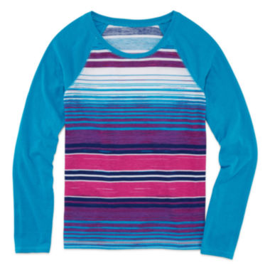 jcpenney.com | Arizona Long-Sleeve Printed Fave Tee - Girls Plus