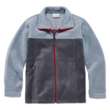 Columbia® Flattop Ridge Long-Sleeve Full-Zip Fleece Jacket - Boys ...