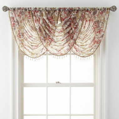 jcpenney.com | Royal Velvet® Villa Rod-Pocket Waterfall Valance