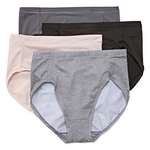 Hanes® Ultimate Cool Comfort Microfiber Hi-Cut Panties - 4pk
