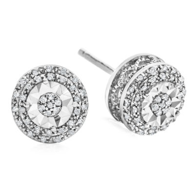 Limited Time Special 1 10 Ct Tw Double Halo Diamond Stud Earrings In Sterling Silver Jcpenney