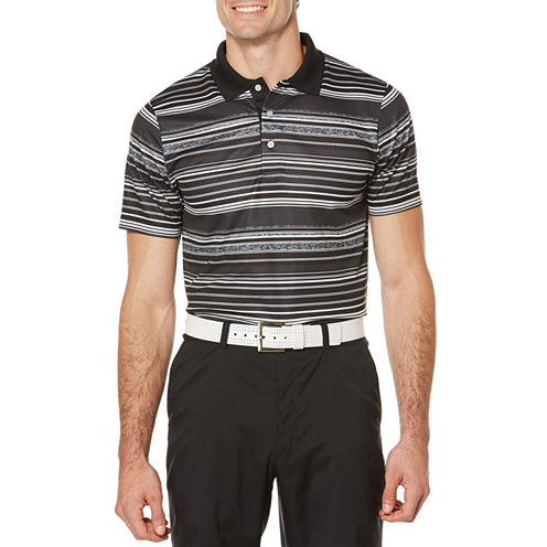 PGA Tour Short Sleeve Ombre Mesh Polo Shirt