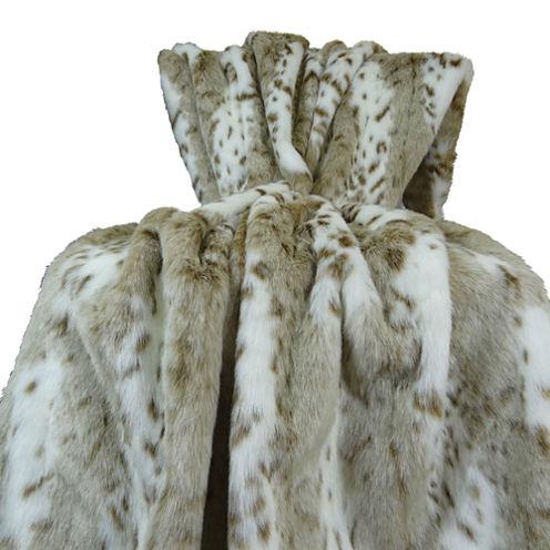 Plutus Siberian Leopard Handmade Throw Blanket