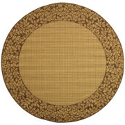Courtyard Vines Border Indoor/Outdoor Round Rugs
