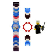 LEGO® Kids Blue & White Minifigure Watch Set