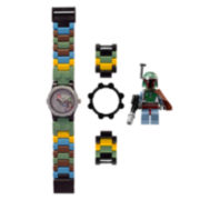 LEGO® Kids Boba Fett Minifigure Watch Set