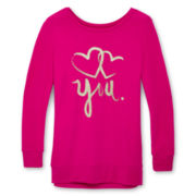 Total Girl® Graphic Sweatshirt - Girls 6-16 and Girls Plus