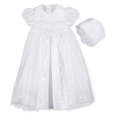 jcpenney.com | Keepsake® Christening Dress and Hat - Girls newborn-9m