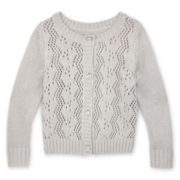 Arizona Pointelle Cardigan - Girls 12m-6y