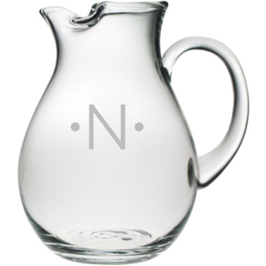 jcpenney.com | 1 Letter WIth Dots Monogrammed Glass Pitcher