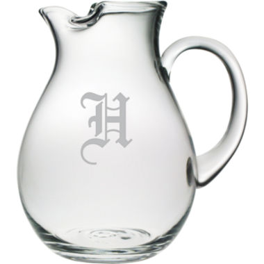 jcpenney.com | 1 Letter Old English Monogrammed Glass Pitcher